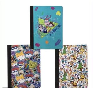Lot (3) Nickeodeon Composition Notebooks Rugrats, Hey Arnold, Wild Thornberrys