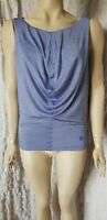 Alexander Mcqueen striped sleeveless gathered waterfall top size S