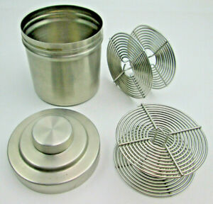 Stainless Steel Film Developing Tank with 2 Reels Made in Japan