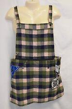 NWT In4mation M Suspender Jumper Short Dress Grunge Plaid Bones Skull Zip Skirt