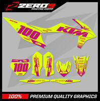 Custom MX Graphics Kit: KTM SX 50 SX 65 2002 - 2021 - BLOCK YEL/PINK