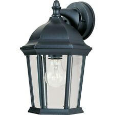 Maxim Builder Cast 1-Light Outdoor Wall Lantern Black - 1024BK
