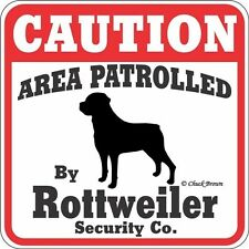 Rottweiler Caution Dog Sign