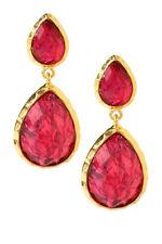 Drop Bohemian Gorgeous Red Gold Earrings Amrita Singh Sag Harbor Dangling Pear
