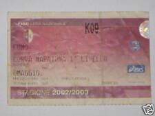 TORINO - COMO BIGLIETTO TICKET 2002 / 03