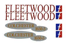Fleetwood caravan camper  motor-home names stickers decals set FLAT NONE RESIN