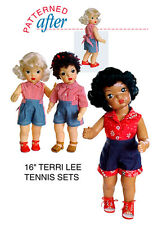 "Tennis Sets Clothing Pattern For 16"" Terri Lee Doll"