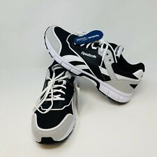 Reebok Royal Run Finish Black Gray Shoes Size 10.5 DV8773