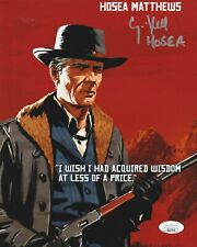 Curzon Dobell Autograph 8x10 Photo Red Dead Redemption 2 Hosea Signed JSA COA