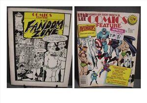COMICS FEATURE THE FANDOM ZONE 1980 & COMICS FEATURE FANZINE # 41 Feb 1986 Rare