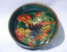 Vintage Moorcroft Tiger Lily Bowl 11.5cm Diameter c.1920's-30's.