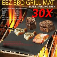 30X Reusable Non-stick  BBQ Grill Mat Barbecue Baking Liner Cooking Sheet LOT
