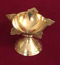 Brass Punchmukhi Diya Deep Oil Lamp Deepam Religious Puja Diwali -USA Seller