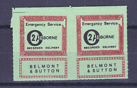 1971 STRIKE MAIL OSBORNE BELMONT & SUTTON POST 2/- RED EMERGENCY SERVICE PR MNH