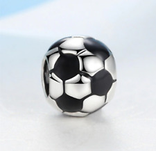 NEW Silver Football Soccer Ball Charm Necklace Pendant DIY Jewelry European Bead