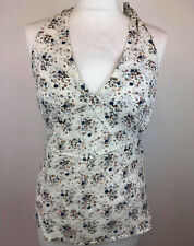 Ladies Peter Werth Woman Summer Halterneck Floral Print Top Blouse Size 10
