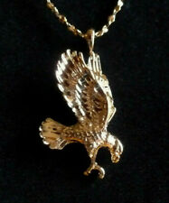 * BALD EAGLE 14 kt GOLD * + + + FREE Chain * Up Swept Wings * Made In The USA *