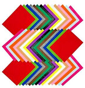 Edukit A4 Felt Fabric Sheets Jumbo Pack – 60 Pieces – 15 Assorted Colours
