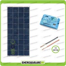 Kit solar fotovoltaico roulotes placa 150W 12V regulador de carga Batería
