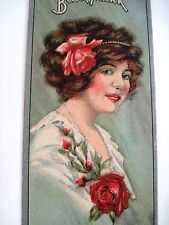 "Vintage Victorian Ad Bookmark ""Jesse French & Sons, Piano Co."" w/ Lovely Woman *"