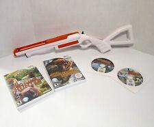 Wii CABELA'S 4 Hunting Games Bundle with Top Shot Gun Controller