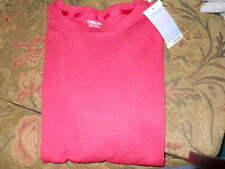 new ladies sz small cherokee shirt brick red crew nwt short sleeve ultimate tee