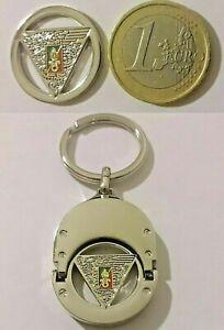 Porte-Clés en métal avec insigne 2°REP LÉGION ÉTRANGÈRE type jeton Caddy 1 EURO