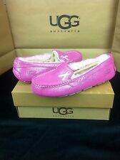 UGG SHINY ANSLEY FUCHSIA BREAST CANCER RIBBON SLIPPERS LTD US 7 NEW WITHOUT BOX