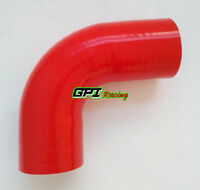 "2"" 51mm Silicone 90 degree Elbow Hose Turbo Intercooler Tube Intake pipe RED"