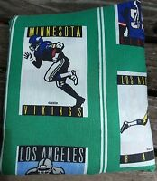 Football Teams Twin Fitted Bed Sheet Bedding NFL MN Vikings Philadelphia Eagles
