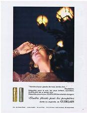 PUBLICITE ADVERTISING 104 1969 GUERLAIN ombre fluide pour les paupières