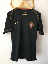 PORTUGAL 2006 2008 AWAY BLACK THIRD FOOTBALL SOCCER SHIRT JERSEY NIKE ADULT (M)