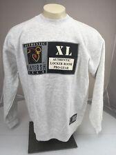 NWT Authentic NFL Players Club Locker room Pro Gear Grey Crewneck sweatshirt XL