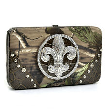 New Fashion Realtree Crocodile Studs Women Camouflage Purse Wallet Handbag Bag