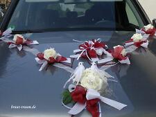 Autoschmuck, Autogirlande , Rosen creme/bordeaux, Hochzeit, neu, zum Brautkleid