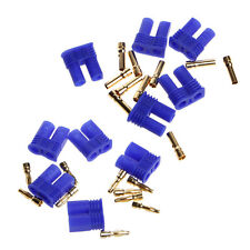 5 Pairs EC2 2.0mm RC Lipo Battery Connector Gold Bullet Banana Plug Male&Female