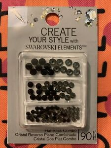 4QTYCreate Your Style with Swarovski Elements Flat Back Combo3mm4mm5mm Mix Black