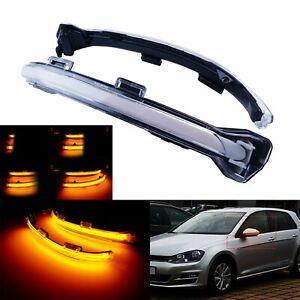 2x Clignotant Rétroviseur Latéral Dynamique LED Clair Pour VW Golf VII Sportsvan