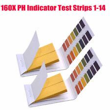 160pcs Ph Indicator Test Strips 1 14 Laboratory Paper Litmus Tester Urine Saliva