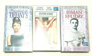 The Audrey Hepburn VHS Collector's Edition - Funny Face, Roman Holiday, Tiffanys