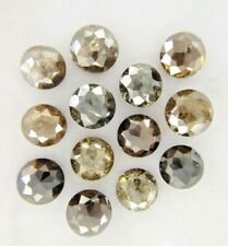 Natural Diamond Lot 13 Pcs Brown Gray Sparkling Round Rose Cut 3.93TCW for Gift