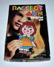 Vtg 1967 Raggedy Ann Doll Dress Up Colorforms Kit Set 480
