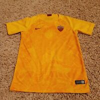 EUC Roma Youth Unisex Yellow Soccer Football Jersey. Unisex Medium