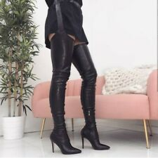 Europe Women's Pointed Street Overknee Belt Nightclub T Stage Pole Dancing Boots