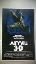 Amityville 3-D 11x17 Poster/print. Good Shape. Make Offer. Horror