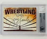 "JERRY ""The King"" LAWLER Autograph Signed WWE WWF Wrestling Auto card ~ BAS BGS"
