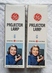 2 GE Projector Lamp Bulb DAR 115-120w 500w NOS In Box
