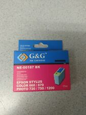G&G ink cartridge black for Epson Stylus Color 660 670 Photo 720 750 1200