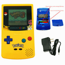 Pokemen Edition Rechargeable Nintendo Game Boy Color Console With Card & Charger