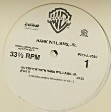 RADIO SHOW: 10/83  1 LP INTERVIEW w/HANK WILLIAMS JR., 70 MIN, 23 PG SCRIPT,RARE